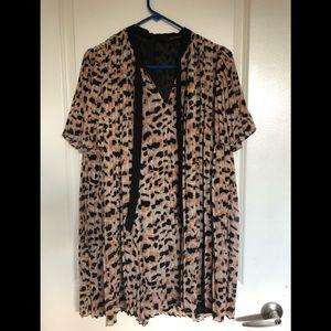 Zara cheetah/leopard dress